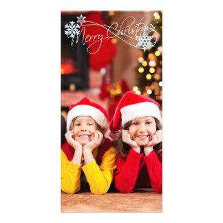 クリスマスのフォトカードはあなたの写真を加えます カード