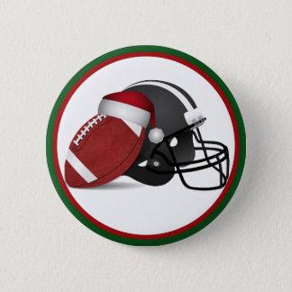 クリスマスのフットボールおよびヘルメット 5.7CM 丸型バッジ