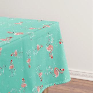 クリスマスのフラミンゴのねじれの小さいパターン テーブルクロス