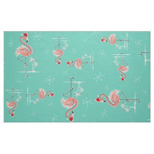 クリスマスのフラミンゴのねじれ大きいパターン生地 ファブリック
