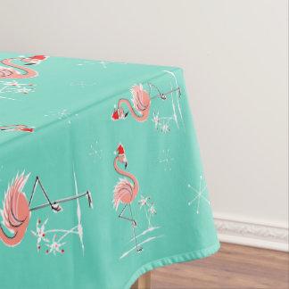 クリスマスのフラミンゴの数々ので大きいパターン テーブルクロス