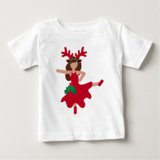 クリスマスのフラメンコのダンサーのemoji ベビーTシャツ