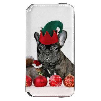 クリスマスのフレンチ・ブルドッグのiPhone 6のウォレットケース Incipio Watson™ iPhone 5 財布型ケース