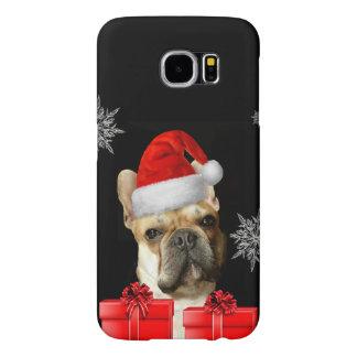 クリスマスのフレンチ・ブルドッグのSamsung s6の例 Samsung Galaxy S6 ケース