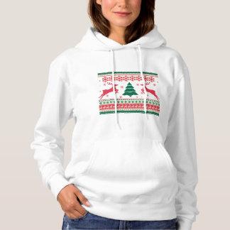 クリスマスのフード付きスウェットシャツの女性のファッション パーカ