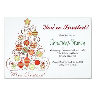 クリスマスのブランチ カード