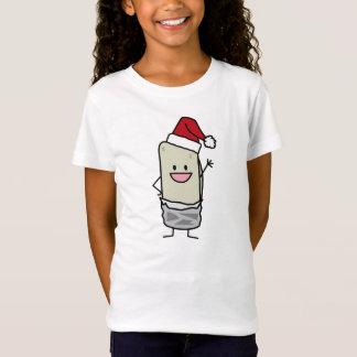 クリスマスのブリトーの振るこんにちはのサンタの帽子の休日 Tシャツ