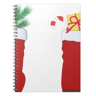 クリスマスのブーツ ノートブック
