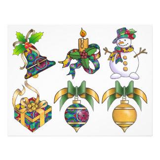 クリスマスのプリント- Decoupageシート レターヘッド