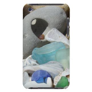 クリスマスのプレゼントのSeaglassの化石の石 Case-Mate iPod Touch ケース