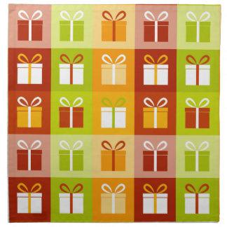 クリスマスのプレゼント箱 ナプキンクロス