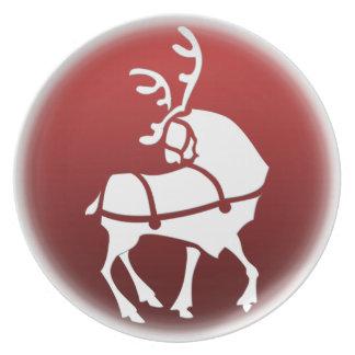 クリスマスのプレートはHoldiayのトナカイのプレートを個人化します プレート