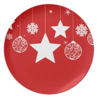 クリスマスのプレート-あなたの色を選んで下さい パーティープレート