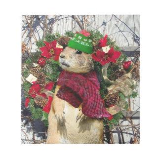 クリスマスのプレーリードッグ ノートパッド
