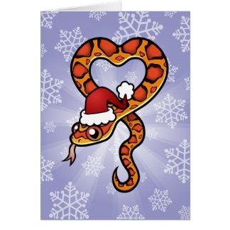 クリスマスのヘビ カード