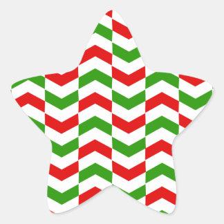 クリスマスのヘリンボン 星シール