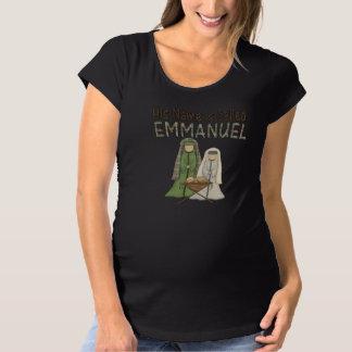 クリスマスのベビーのイエス・キリストの女性の妊婦のなTシャツ マタニティTシャツ