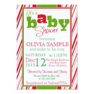 クリスマスのベビーシャワーの招待状 カード