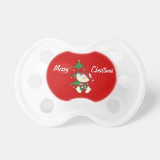 クリスマスのベビー+木 おしゃぶり