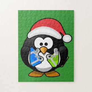 クリスマスのペンギンのパズル ジグソーパズル