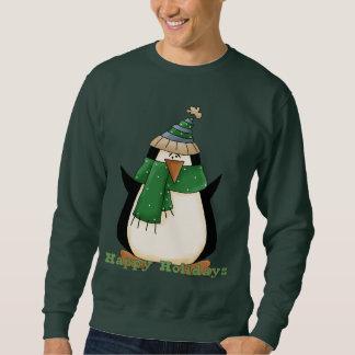 クリスマスのペンギンの休日の漫画のスエットシャツ スウェットシャツ