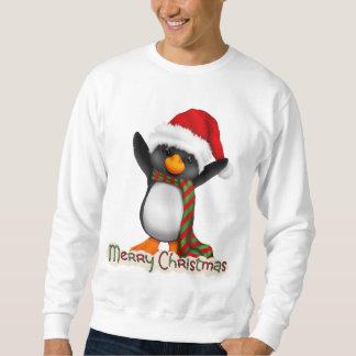 クリスマスのペンギンの休日の漫画のTシャツ スウェットシャツ