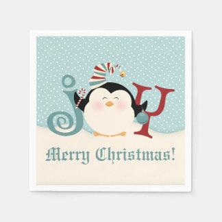 クリスマスのペンギンの喜び スタンダードカクテルナプキン