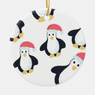 クリスマスのペンギンの木の装飾 セラミックオーナメント