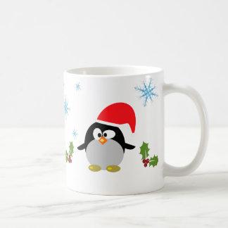 クリスマスのペンギン325のmlのクラシックで白いマグ コーヒーマグカップ