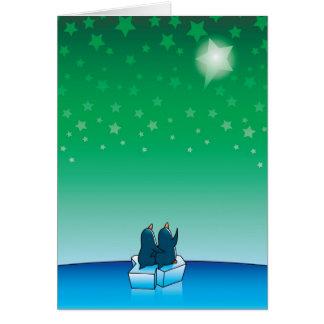 クリスマスのペンギン カード