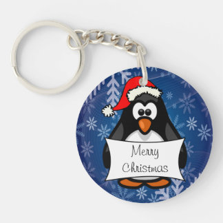 クリスマスのペンギン キーホルダー