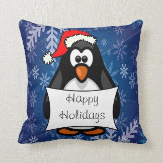 クリスマスのペンギン クッション