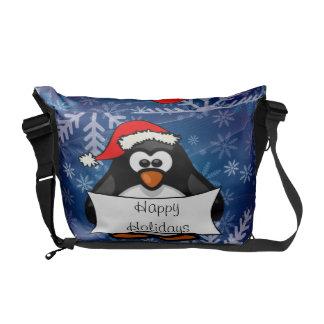 クリスマスのペンギン クーリエバッグ