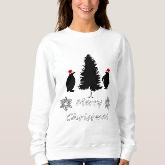 クリスマスのペンギン スウェットシャツ