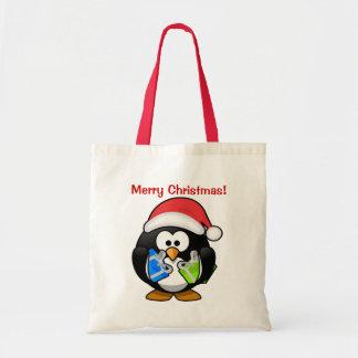 クリスマスのペンギン トートバッグ