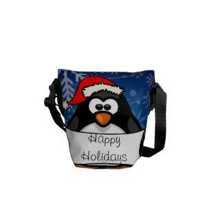 クリスマスのペンギン メッセンジャーバッグ