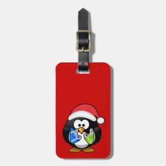 クリスマスのペンギン ラゲッジタグ