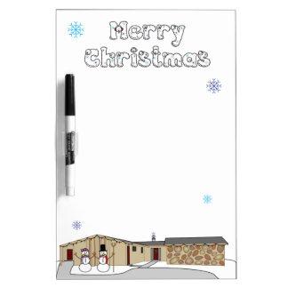 クリスマスのホワイトボード ホワイトボード