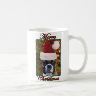 クリスマスのボクサー犬のマグ コーヒーマグカップ