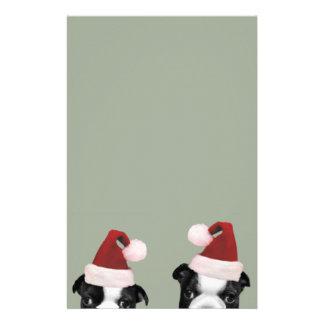 クリスマスのボストンテリア 便箋