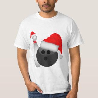 クリスマスのボーリング・ボールおよびPin Tシャツ