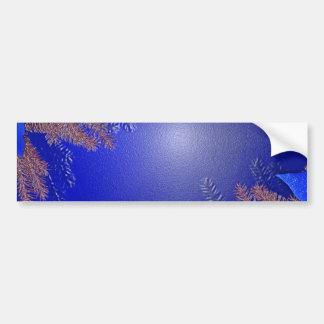 クリスマスのポインセチアの青I バンパーステッカー