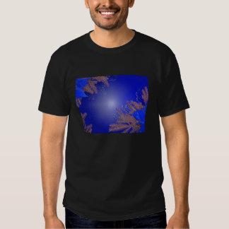 クリスマスのポインセチアの青II Tシャツ