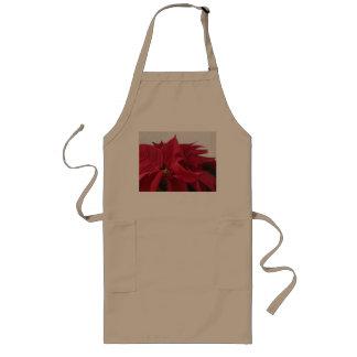 クリスマスのポインセチア ロングエプロン
