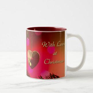 クリスマスのマグの愛と ツートーンマグカップ