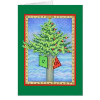 クリスマスのマーカー カード