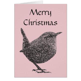 クリスマスのミソサザイの挨拶状 カード