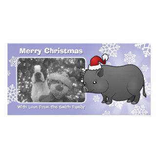 クリスマスのミニチュアのブタ カード