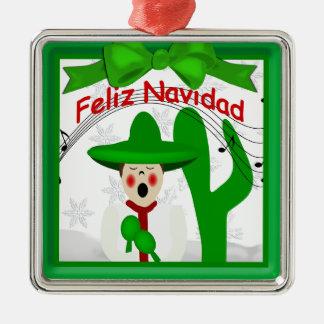 クリスマスのメキシコマリアッチは聖歌隊のオーナメントに人を配置します メタルオーナメント