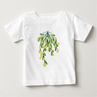 クリスマスのヤドリギ ベビーTシャツ